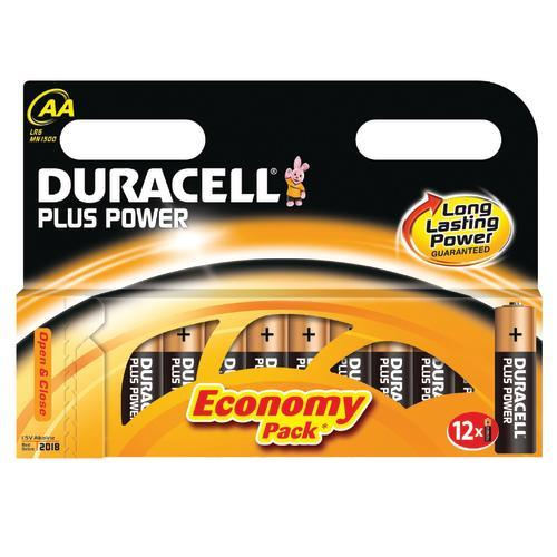 "Duracell Alkaline Batterien ""Plus Power"", 12er Set, Typ AA"