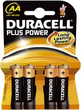 "Duracell Alkaline Batterien ""Plus Power"", 4er Set, Typ AA"