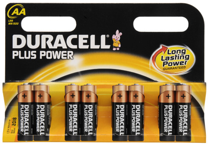 "Duracell Alkaline Batterien ""Plus Power"", 8er Set, Typ AA"