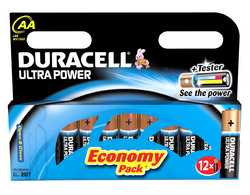 "Duracell Alkaline Batterien ""Ultra Power"", 12er Set, Typ AA"