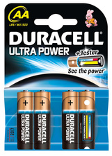 "Duracell Alkaline Batterien ""Ultra Power"", 4er Set, Typ AA"