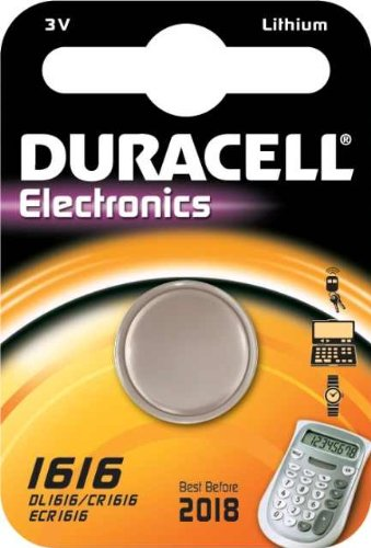 "Duracell Lithium Knopfzelle ""Electronics"", 1er Set, Typ 1616"