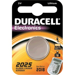 "Duracell Lithium Knopfzelle ""Electronics"", 1er Set, Typ 2025"