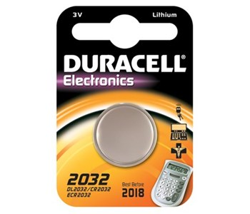"Duracell Lithium Knopfzelle ""Electronics"", 1er Set, Typ 2032"