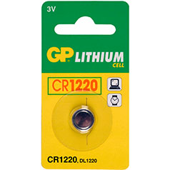 GP Lithium Knopfzelle, 1er Set, Typ CR1220