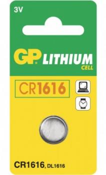 GP Lithium Knopfzelle, 1er Set, Typ CR1616