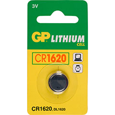 GP Lithium Knopfzelle, 1er Set, Typ CR1620